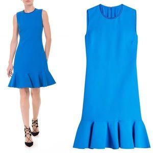 Victoria Victoria Beckham Flounce Hem Dress Blue